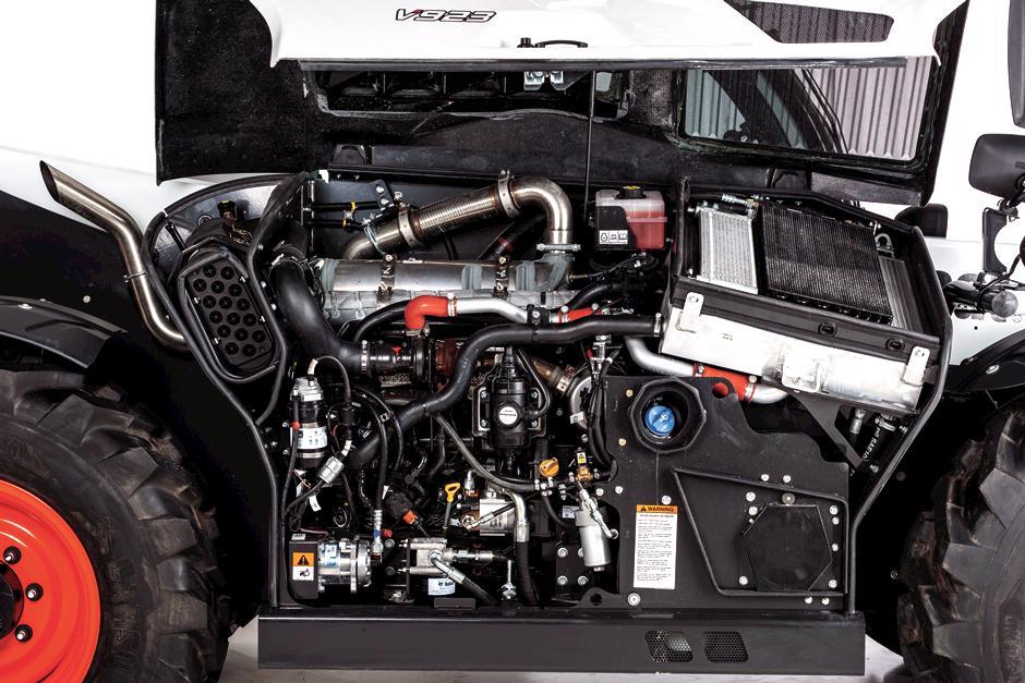 Close Up Photo Of Bobcat V923 Telehandler Engine