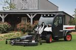 Toolcat 5600 with lawn mower attachment.