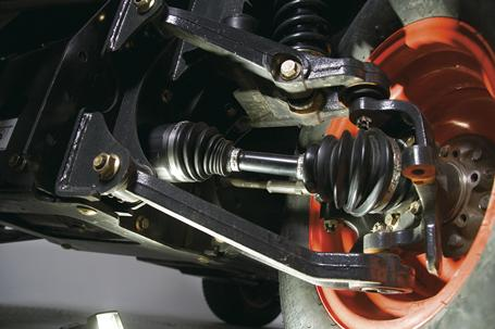 A mechanical rendering shows the multi-disc wet brakes of Toolcat utility work machines.