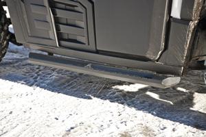 Nerf boards on Bobcat 3400 utility vehicle.