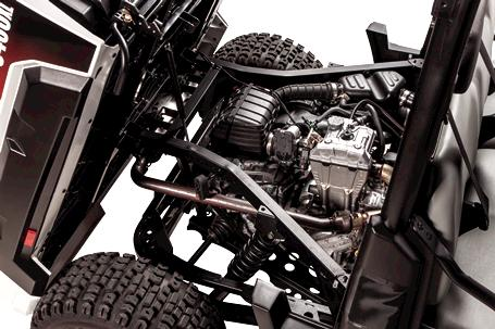 Engine compartment of Bobcat 3400XL utility vehicle.
