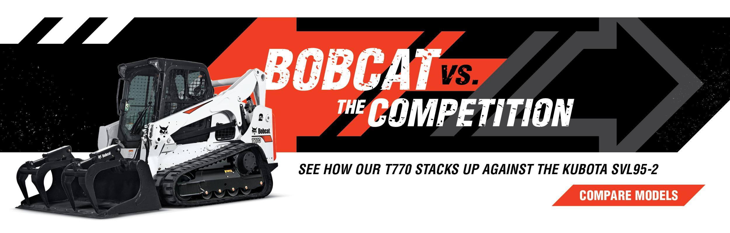 Bobcat T770 Compact Loader Vs. Kubota SVL95-2 Compare Models Banner