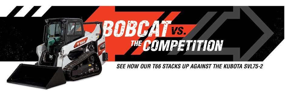 Bobcat T66 Compact Loaders Vs. Kubota SVL75-2 Competitive Comparison Intro Banner