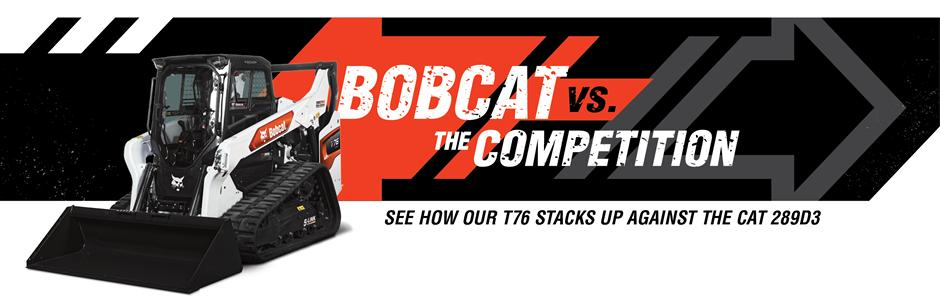 Bobcat T76 Compact Track Loader Vs. Cat 289D3 Competitive Comparison Intro Banner