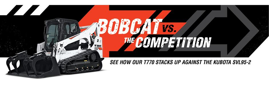 Bobcat T770 Compact Track Loader Vs. Kubota SVL95-2 Competitive Comparison Intro Banner