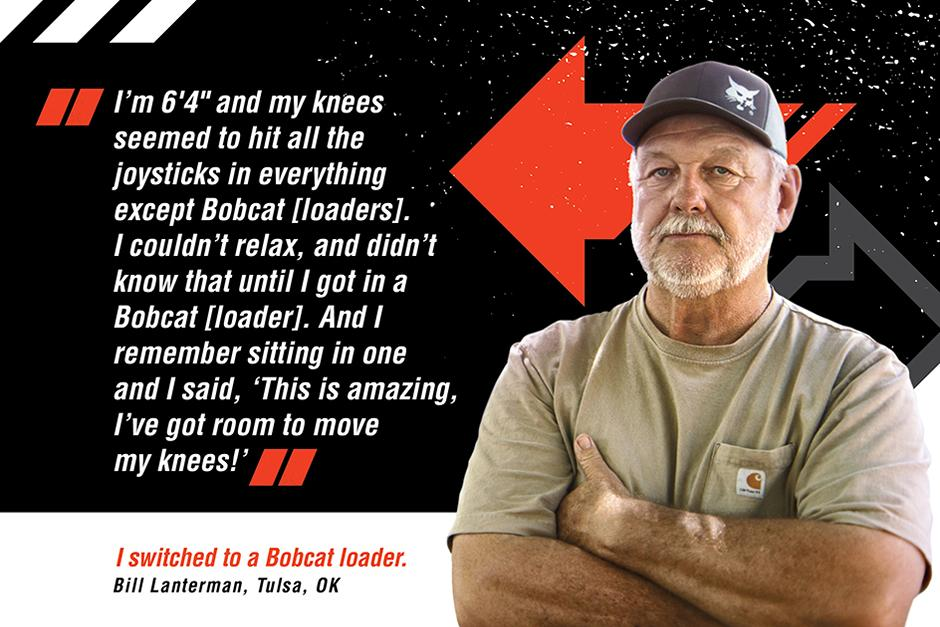 Bobcat Operator Headshot With Quote Graphic