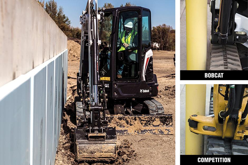 Zero Tail Swing Mini Excavators On Construction Jobsite