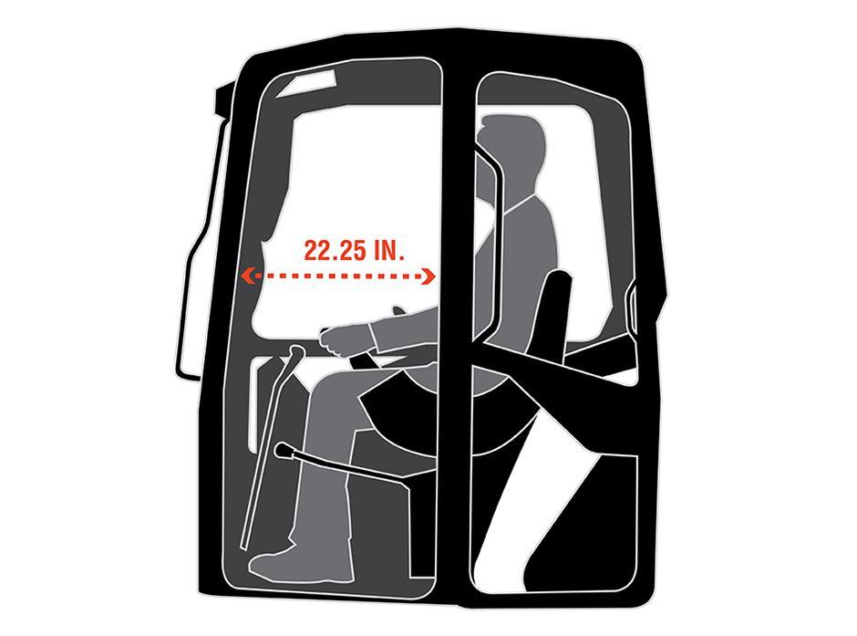 Illustration Of Bobcat E42 Mini Excavator Cab Interior