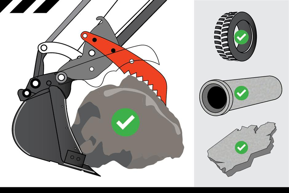 Bobcat E50 Pro-Clamp Illustration
