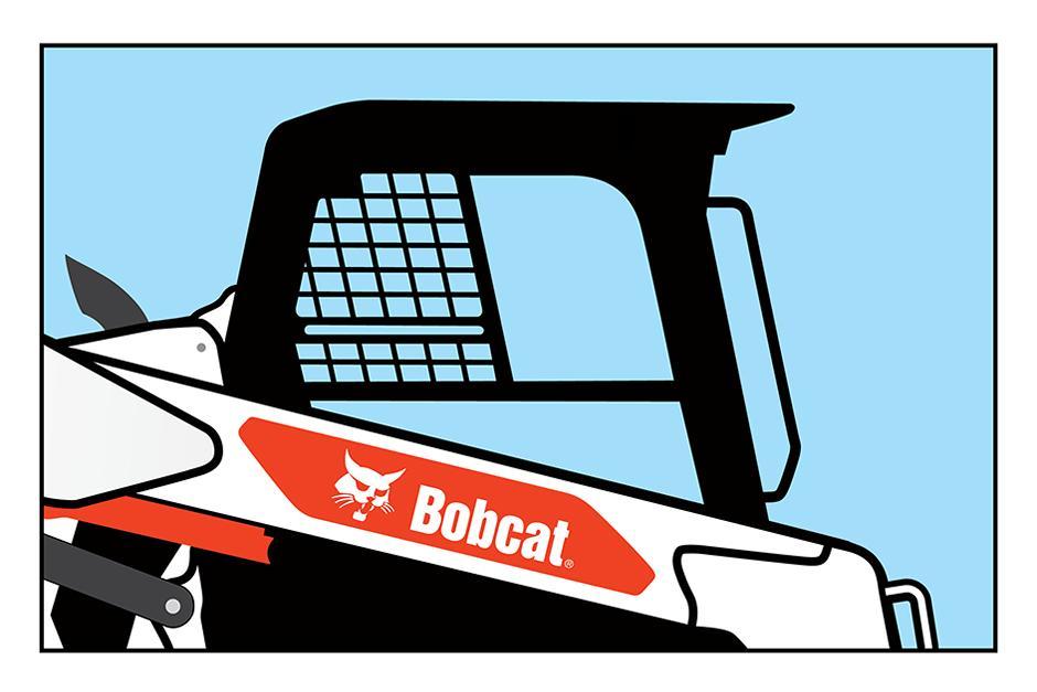 Illustration Of Bobcat T66 Compact Track Loader Cab Visibility