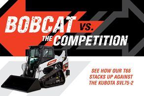 Bobcat T66 vs. Kubota SVL75-2 Compact Track Loader Promotional Image