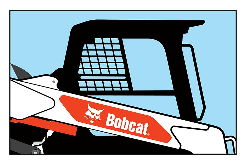Bobcat T76 Loader Clear-Side Enclosure