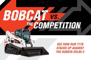 Bobcat T770 Vs. Kubota SVL95-2 Graphic