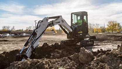 Bobcat E35 Compact Excavator on the job.