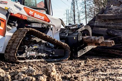 Bobcat Compact Track Loader Working on Muddy Jobsite