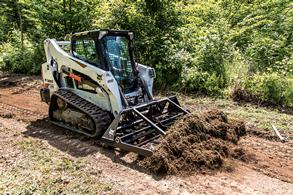 Bobcat loader with landplane attachment