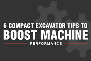 Compact excavator maintenance tips
