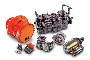 Photo of several remanufactured parts