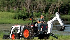 Bobcat Compact Tractor with backhoe attachment