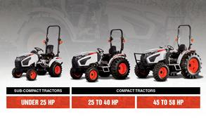 Bobcat Compact Tractor Size Class Lineup