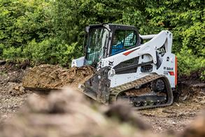 Photo of T770 compact track loader.
