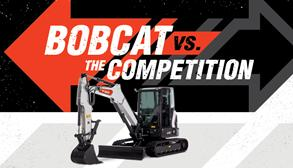 Bobcat Excavators Compared to Competition