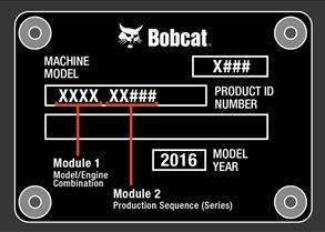 Bobcat serial number tag locations