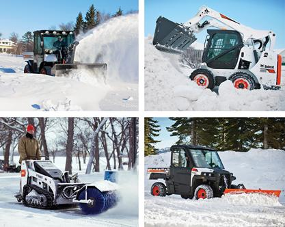 Bobcat machines maximize snow removal efficiency
