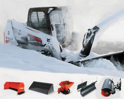 Bobcat S590 with snow attachment
