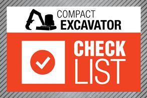 Excavator checklist