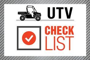 UTV Check List