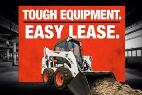 Bobcat S590 skid-steer loader with Tough Equipment. Easy Lease.