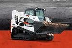 Leasing badge with Bobcat T770 compact track loader.