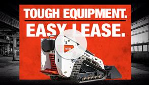 Bobcat MT85 mini track loader in a video about leasing.