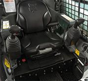 Adjustable Seat In Cab Of Bobcat S510 Skid-Steer Loader