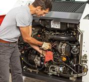 Operator Services Engine Of Bobcat S510 Skid-Steer Loader