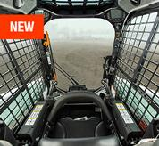 Cab view for Bobcat skid-steer loaders and compact track loaders.