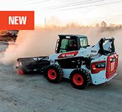 R-Series Skid-Steer Loader From Bobcat With Angle Broom Attachment