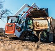 R-Series Compact Track Loader From Bobcat Lifting Dirt