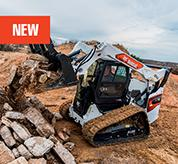 R-Series Compact Track Loader from Bobcat with Industrial Grapple Attachment