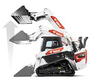Studio Image Showing Vertical Lift Arm Path On A Bobcat Compact Loader