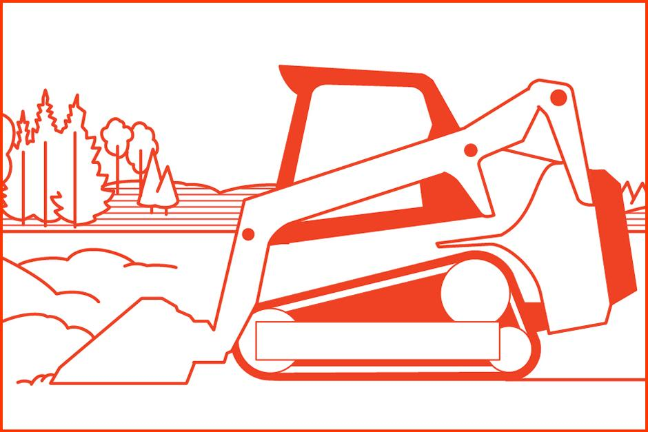 Illustration Of Bobcat Loader At Work Using New Feature