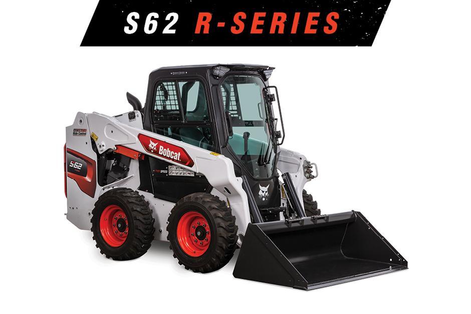 Image Of Bobcat S62 Skid-Steer Loader On White Background