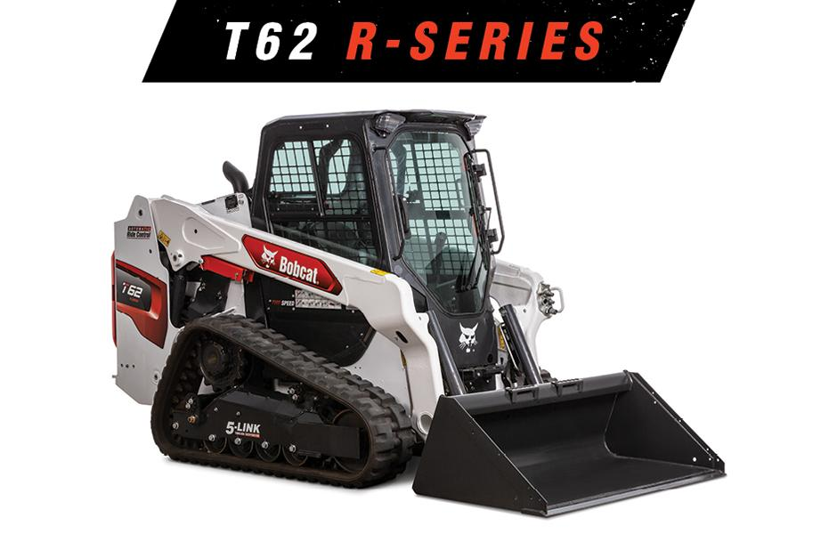 Image Of Bobcat T62 Compact Track Loader On White Background