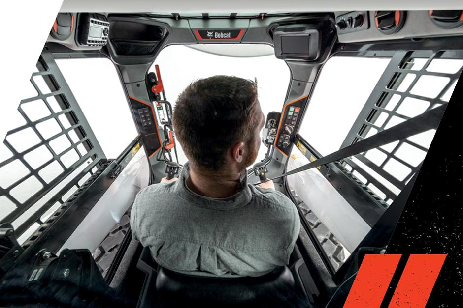 Inside View Of Operator In An R-Series Compact Loader
