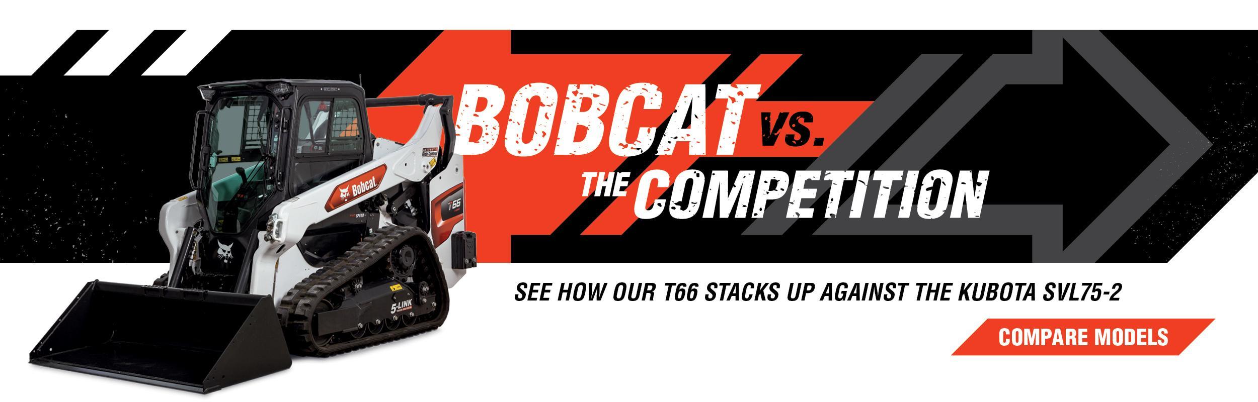Bobcat T66 Compact Loaders Vs. Kubota SVL75-2 Compare Models Banner