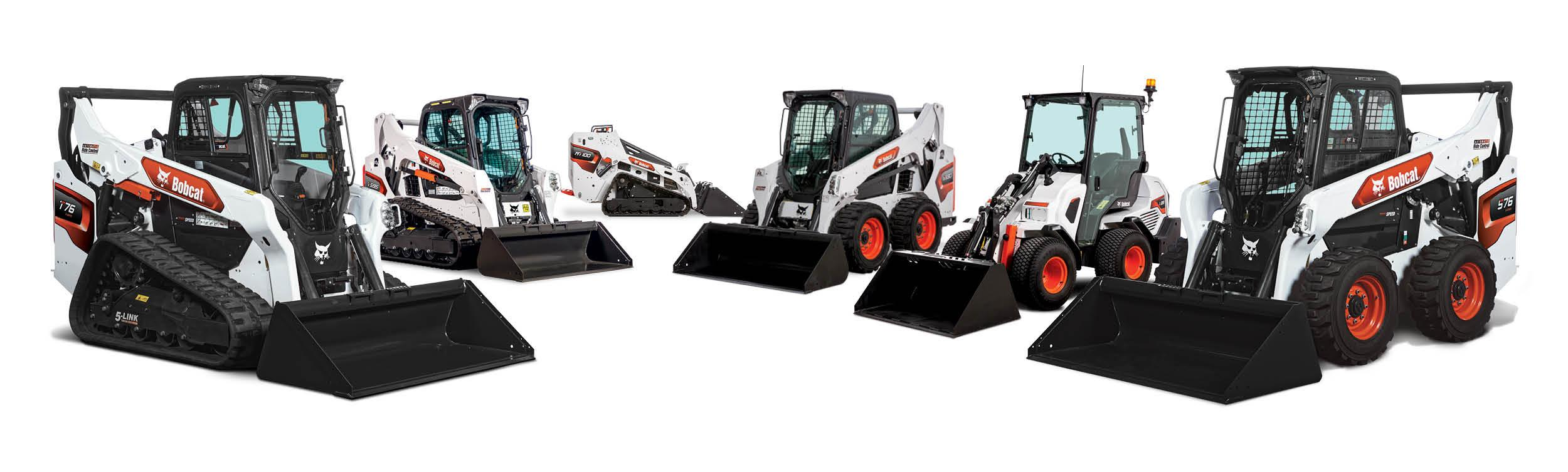 Studio Image Of The Bobcat Compact Track, Mini, Skid-Steer and Articulated Loaders