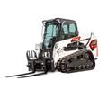 Studio Image Of Bobcat T550 Compact Track Loader With Pallet Fork Attachment