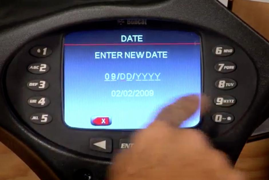 Deluxe instrumentation displaying date display options.