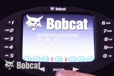 Bobcat Deluxe Instrumentation display showing password login screen